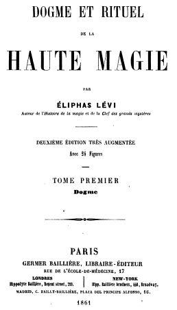 HAUTE LA LEVI PDF RITUEL MAGIE ET DE ELIPHAS DOGME